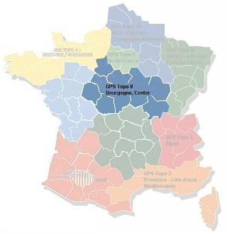 MapSource France Topo Bourgogne, Center (No. 8)